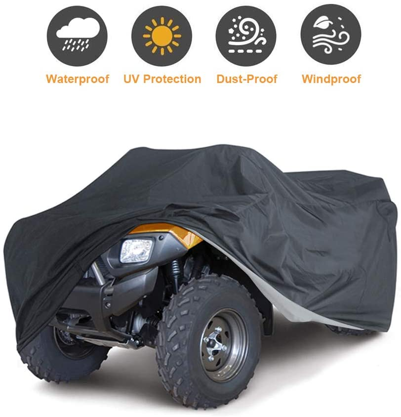 Szblnsm All-Season Waterproof ATV Cover, Universal Heavy Duty Outdoor UV-Resistant
