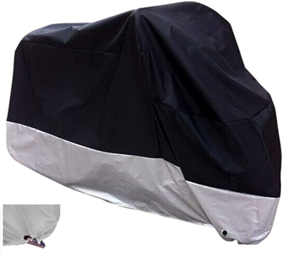 XYZCTEM All Season Black Waterproof Sun Motorcycle Cover,Fits up to 108″ Motors (XX Large & Lockholes)