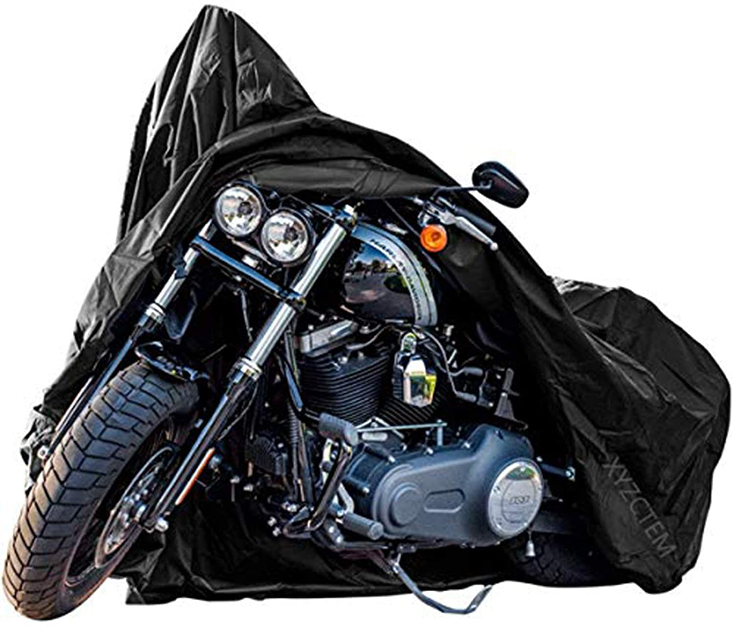 New Generation Motorcycle cover ! XYZCTEM All Weather Black XXXL Large Waterproof Outdoor Protects Fits up