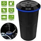Gulaki Car Diffuser Essential Oils – Multifunction Cool Mist Car Humidifier with 2 USB Port and 1 Car Charger Socket (Black)